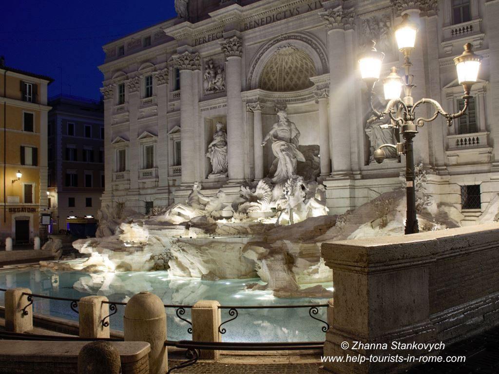 Trevi Brunnen Rom nachts