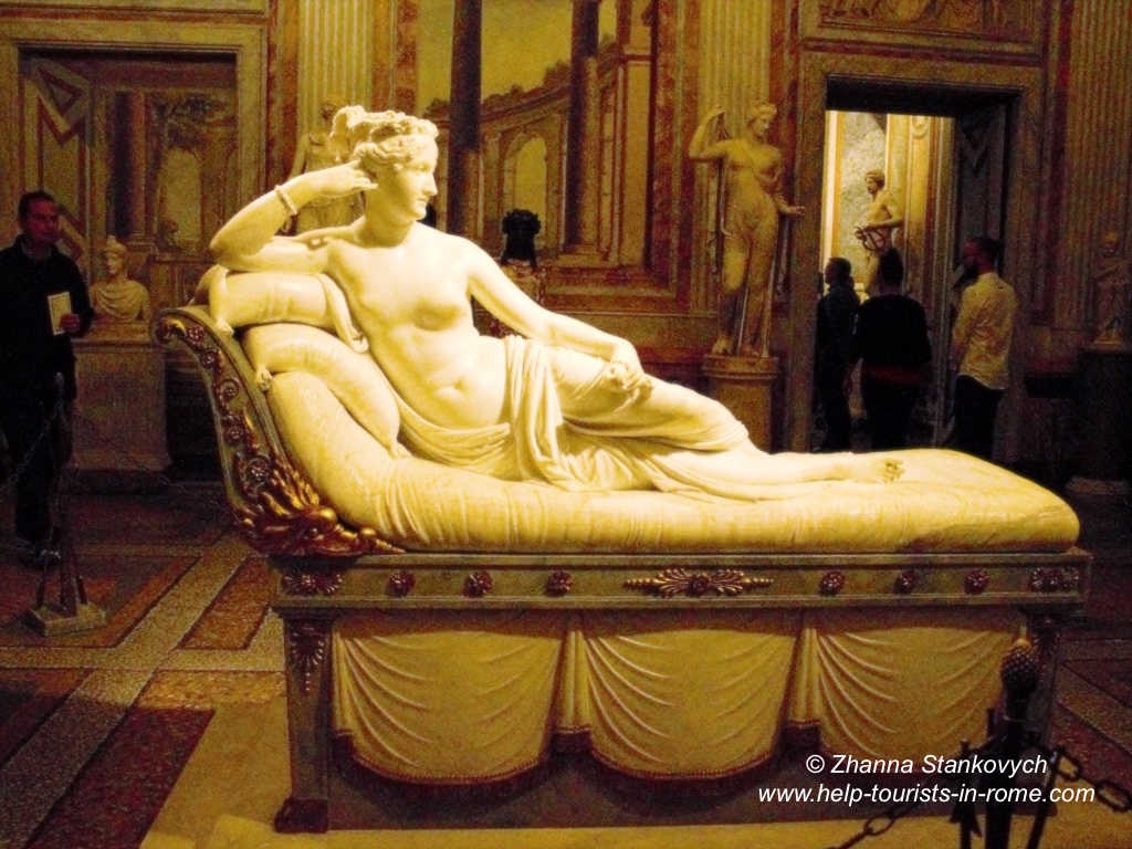 Paolina Borghese in der Galleria Borghese Rom