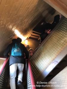Treppen in der Petersdom Kuppel