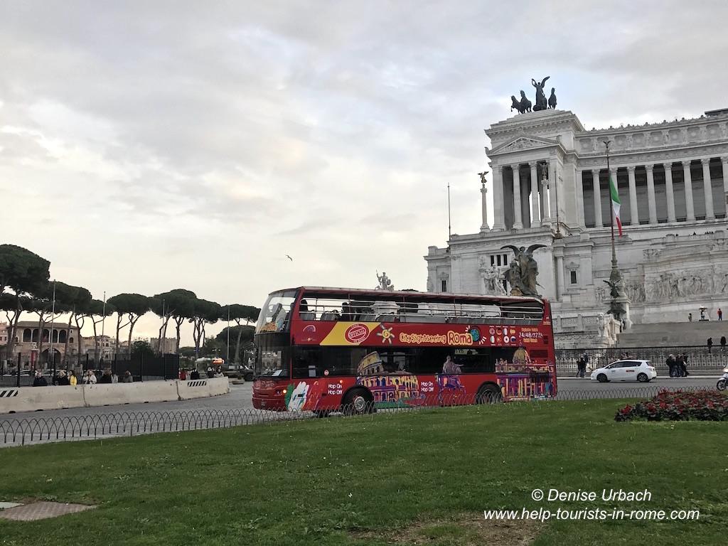 Vergleich Hop on Hop off Rom: Preise, Tickets, Routen & Haltestellen on