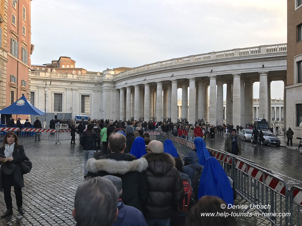 waiting line papal audience Rome