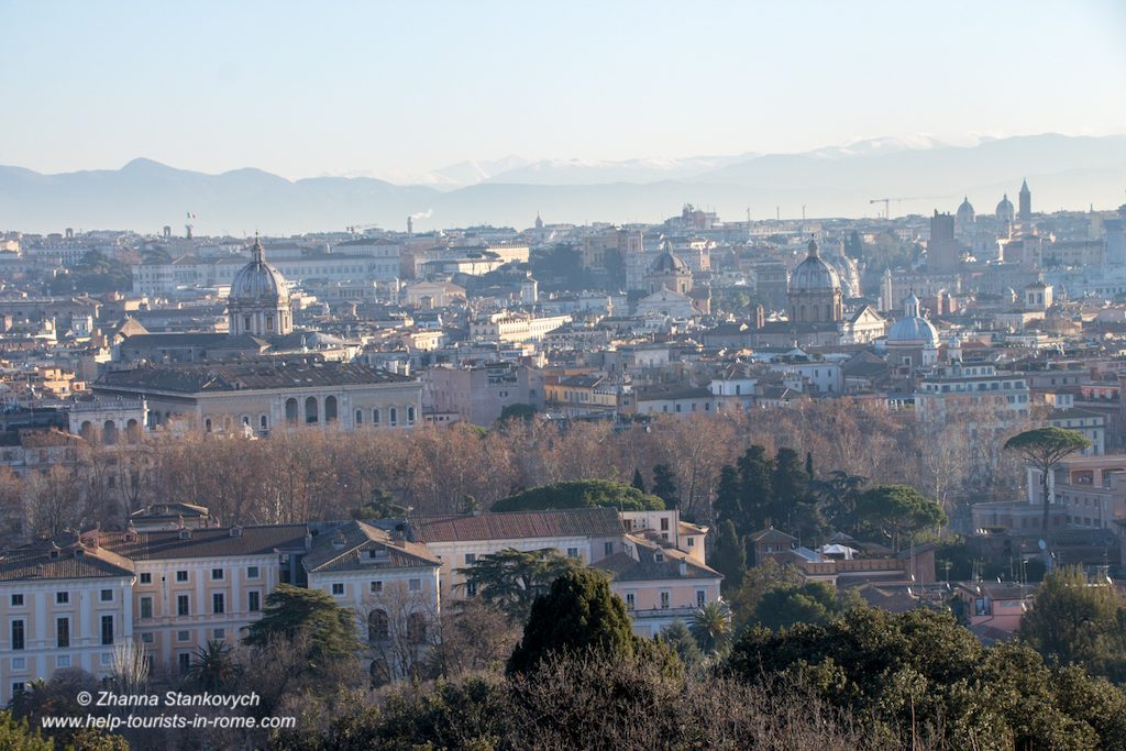 winter morning at Gianicolo in Rome