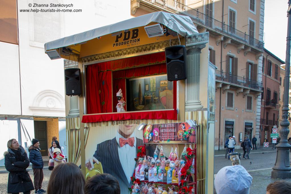 Piazza Navona Weihnachten Puppentheater