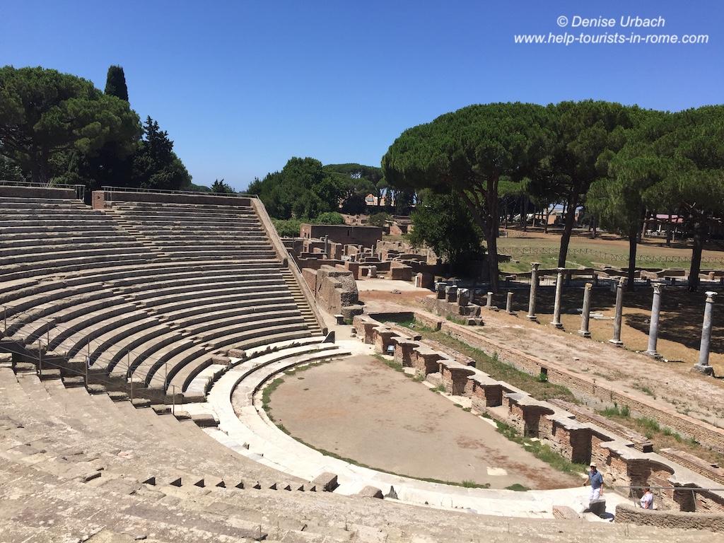 Amphietheater Ostia Antica Rom