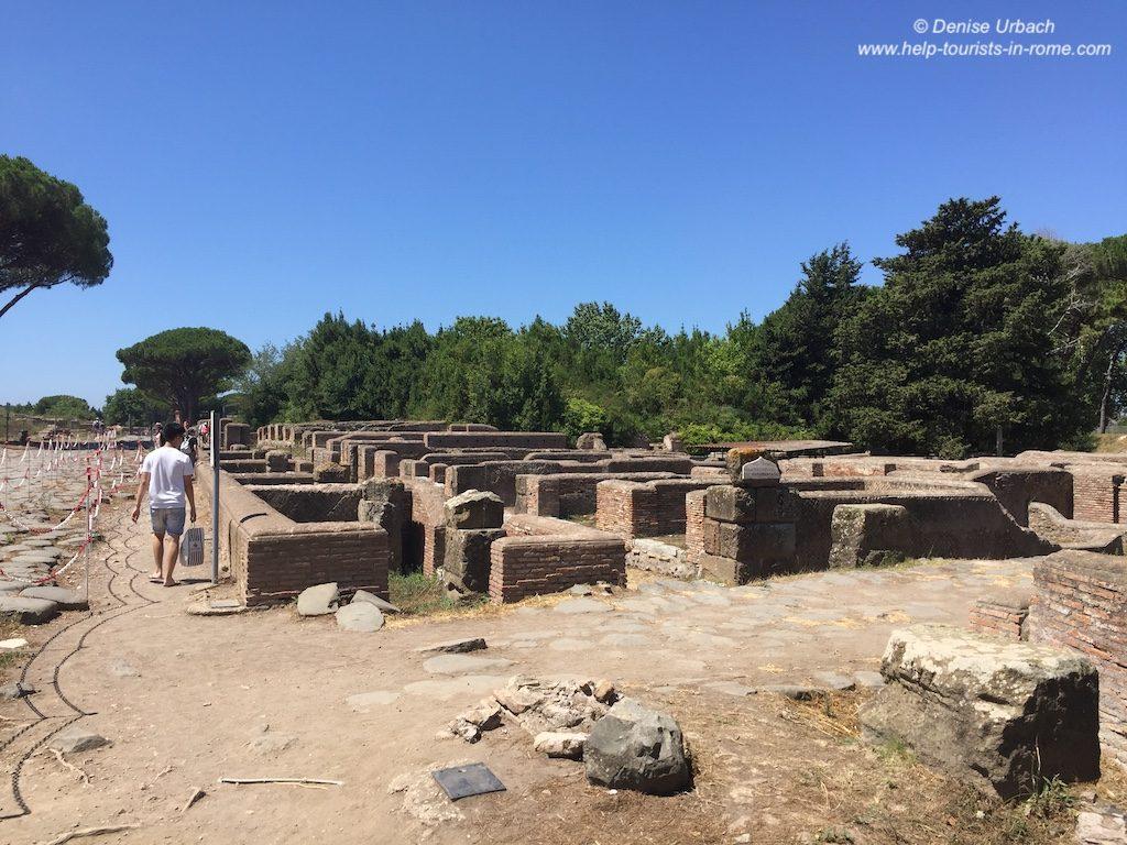 Ruinen Ostia Antica Rom