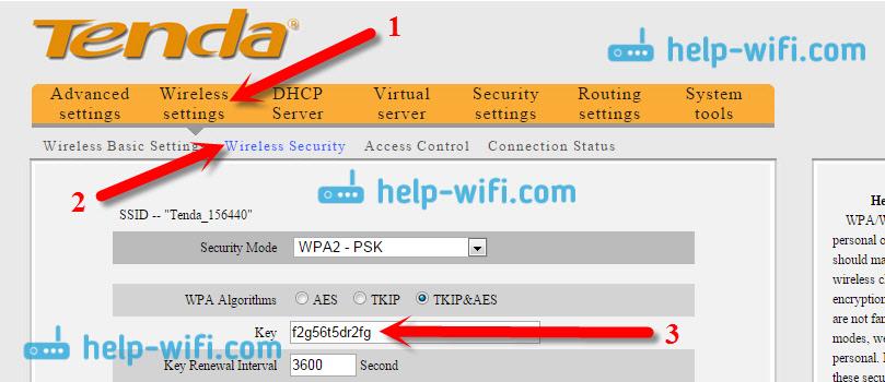 Où est le mot de passe du Wi-Fi sur Tenda