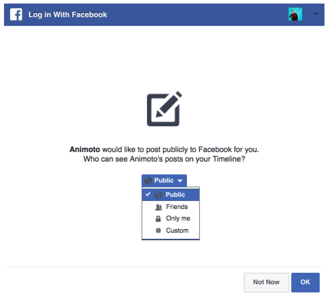 Facebook Privacy And Video Sharing Faq Animoto Help