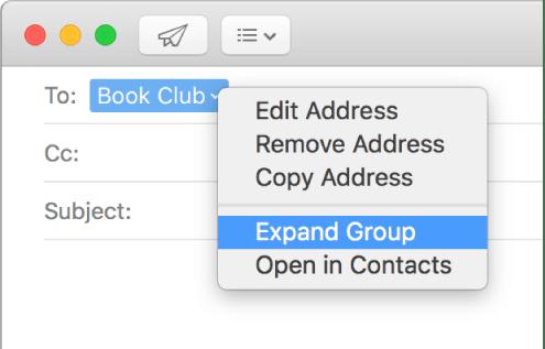 Adressieren Von E Mails In Mail Auf Dem Mac Apple Support