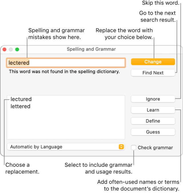 Check spelling in Pages on Mac - Apple Support