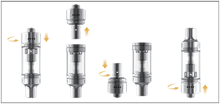 How to install coil on TPD version K1 plus tank ?