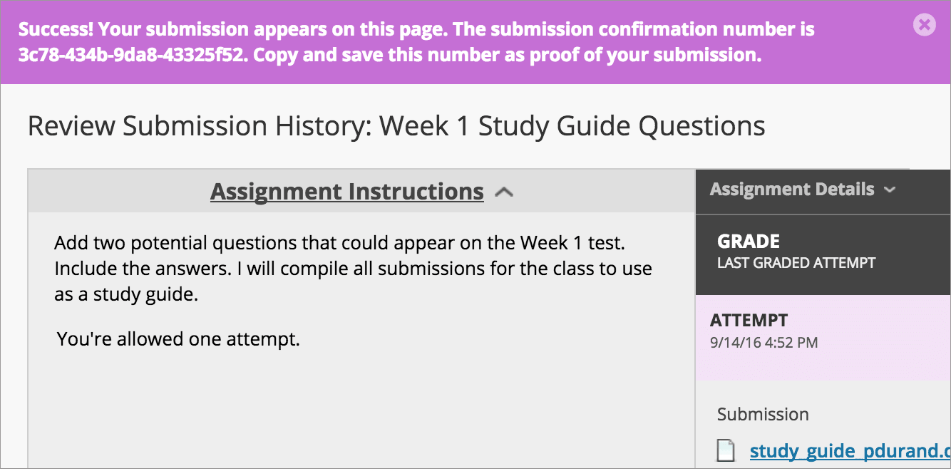 My Instructor Didn't Receive My Assignment. What Do I Do?