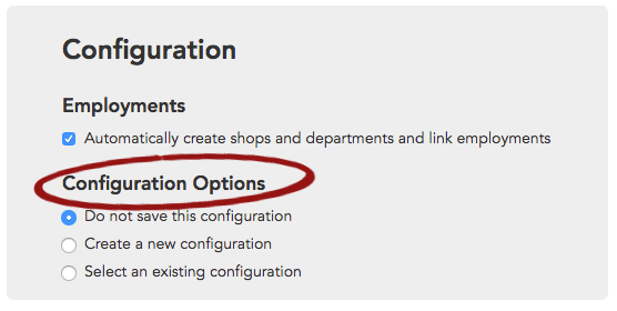 Configuration Options addresses how Broadstripes will handle your field mappings.