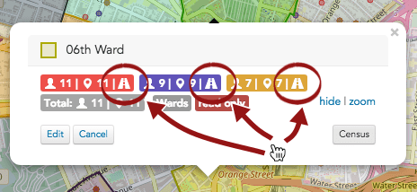 Click the **driving directions icon** :fa-road: next to any search results summary to get turn-by-turn driving directions to the houses encompassed in the search.