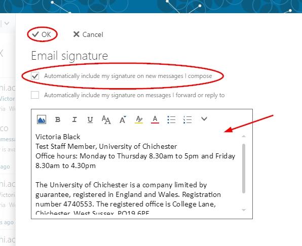 college email signature
