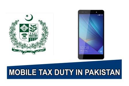 Huawei Honor 7 Tax duty In Pakistan Custom Duty in Pakistan.