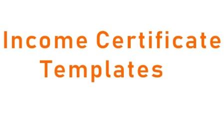 Income Certificate Design Templates