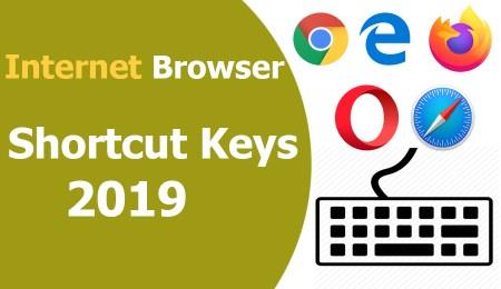 Internet Browser Shortcut Keys 2019