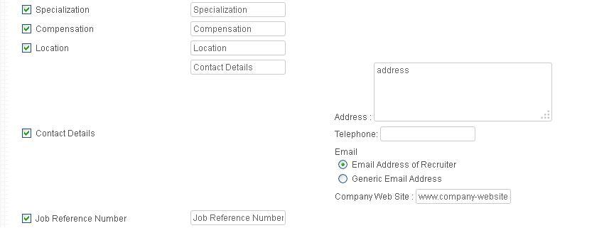 Configure Job Publishing