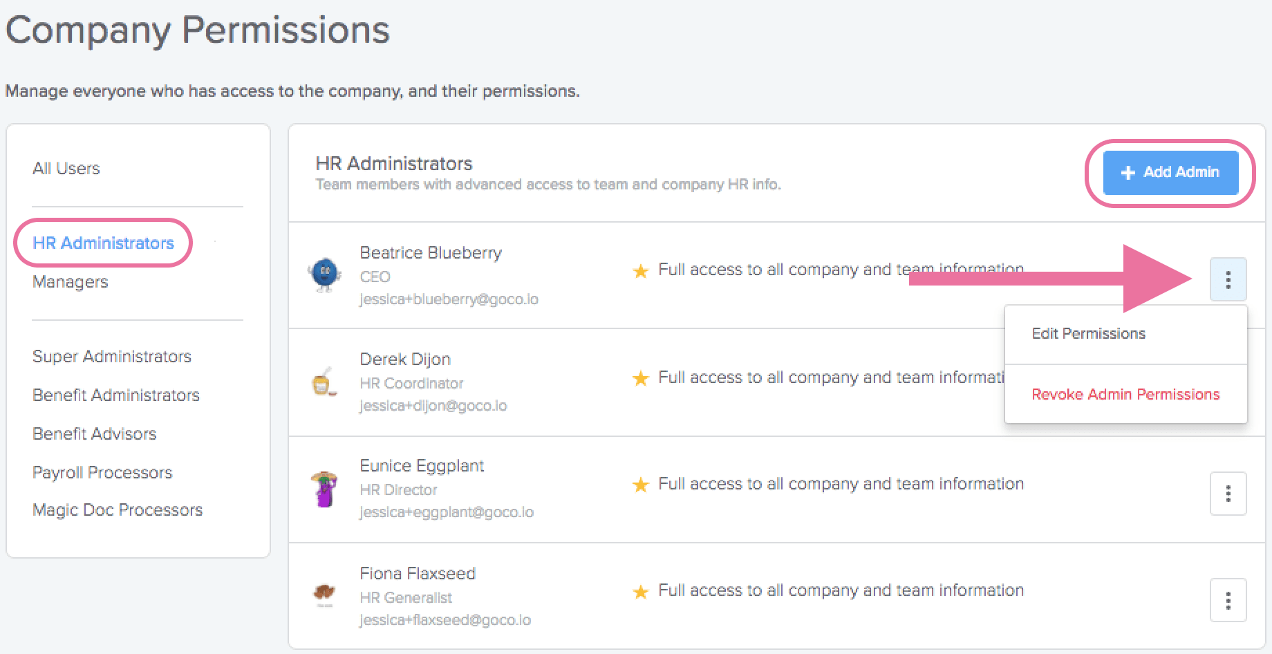 HR Admin Permissions Overview