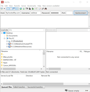 Filezilla with plain FTP