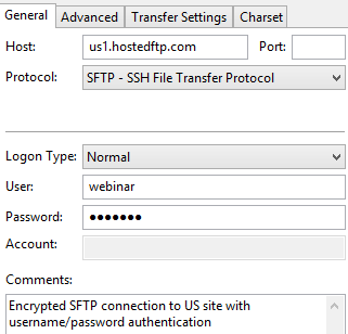 Using Filezilla with FTPS and SFTP | Hosted~FTP~ Help