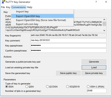 Putty key openssh format | Converting a Putty Private Key