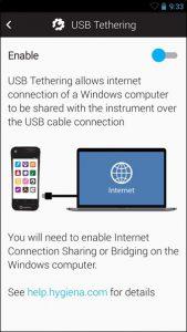 USB Tethering Configuration – Hygiena Help