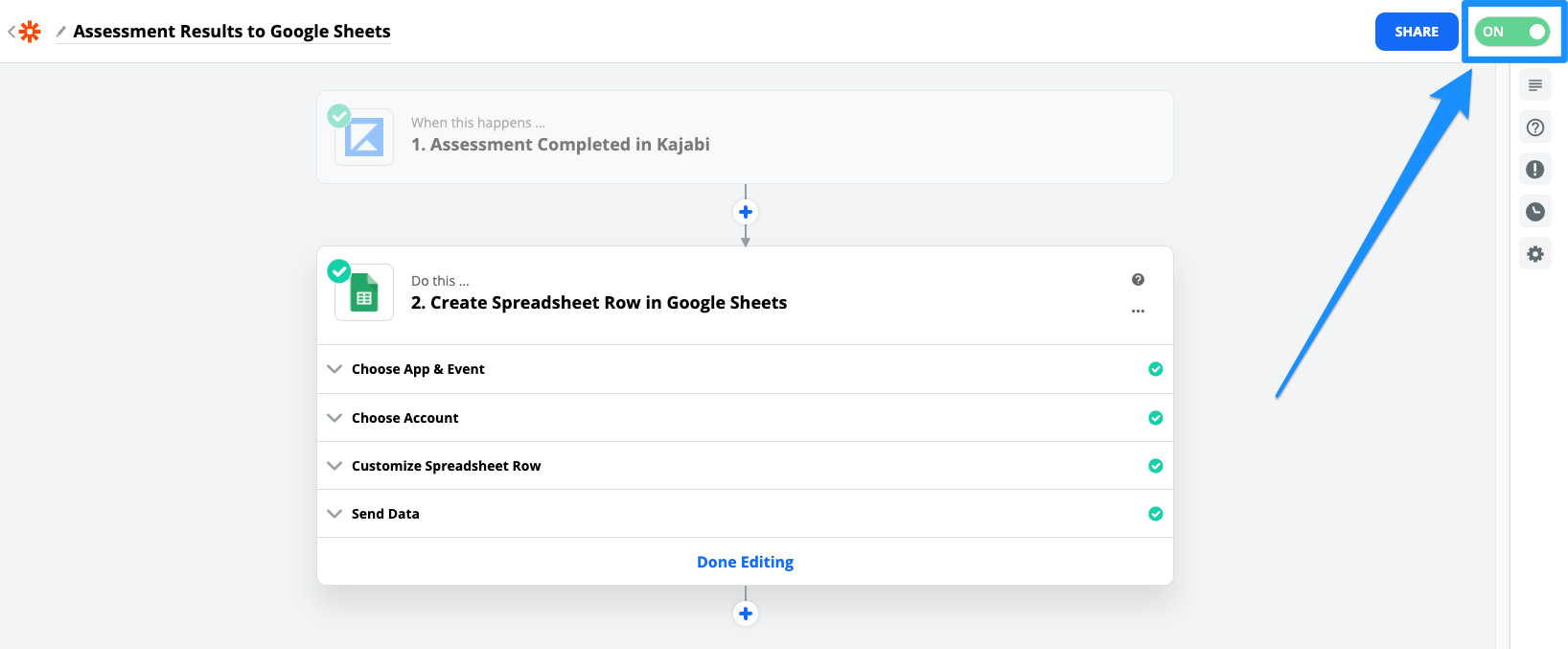 How to Send Assessment Results to Google Sheets