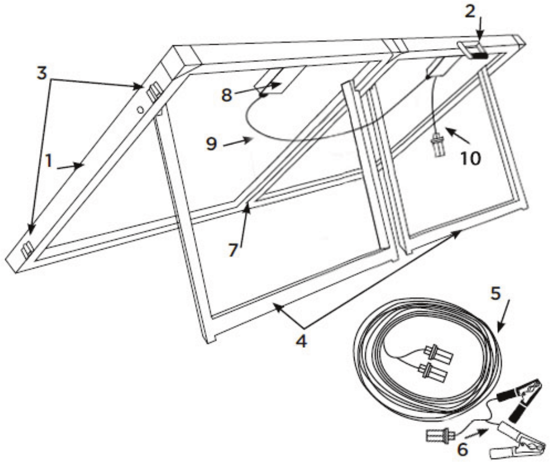 Komodo 140w 12v Folding Solar Panel Kit Kd140fslrpa