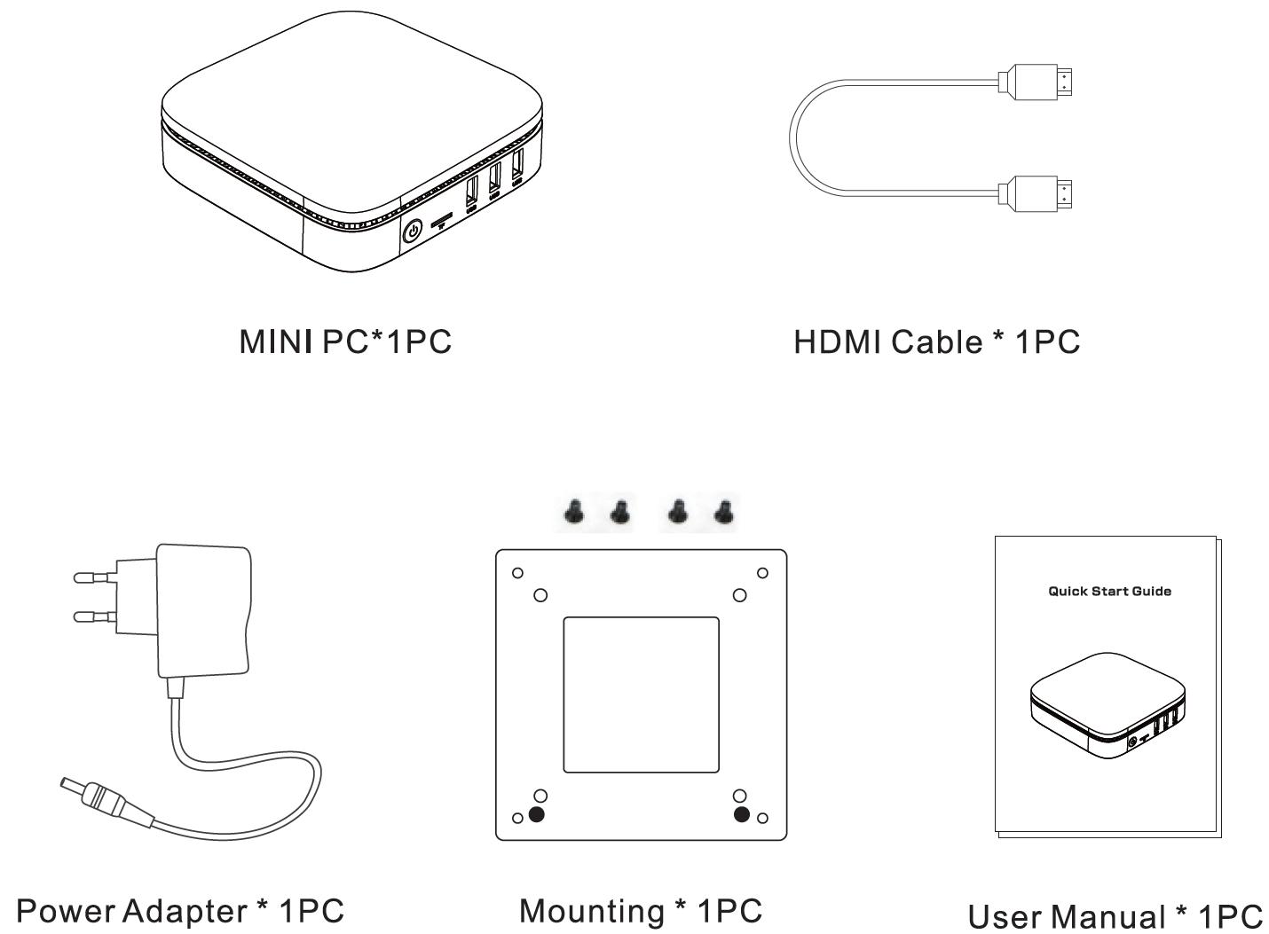 Kogan Atlas E300 Mini PC - (KAMPE300XA) - Manual