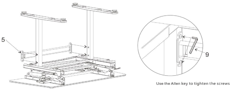 Ergolux DuoPro Height Adjustable Sit Stand Desk (Black