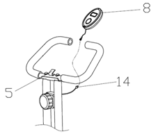Fortis Foldable Magnetic Flywheel Exercise Bike