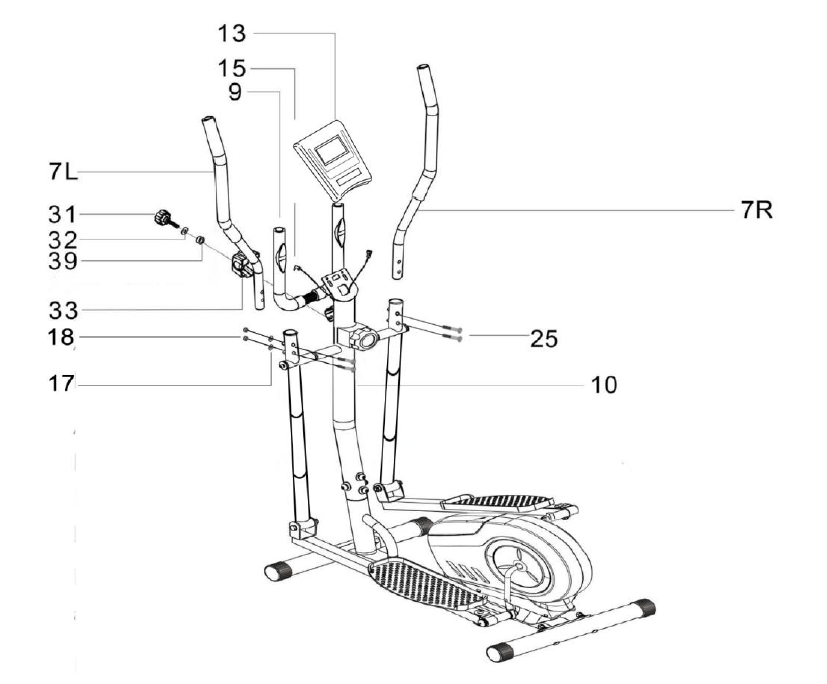 Fortis Magnetic Flywheel Elliptical Cross Trainer