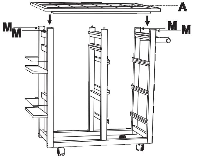 Ovela Ceramic Top Kitchen Storage Trolley & Workbench