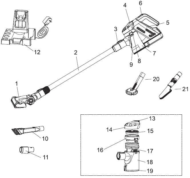 Kogan T7(X) Cordless 22V Stick Vacuum Cleaner