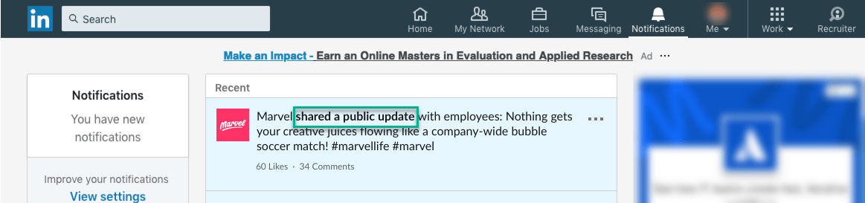 linkedin employee notifications