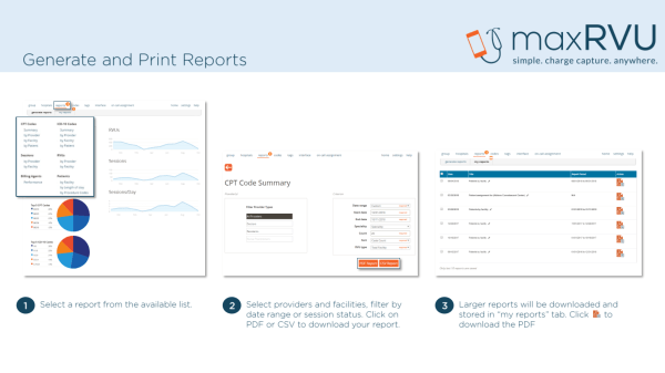 run reports, print reports, create reports, reports, print codes, print