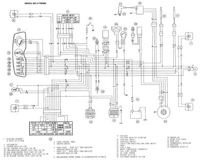 Схема электрооборудования мотоциклов Derbi Senda SM X