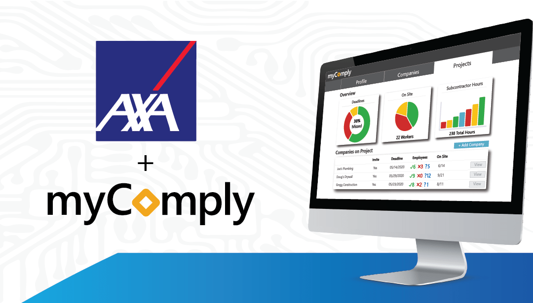 myComply Joins AXA XL's Construction Ecosystem