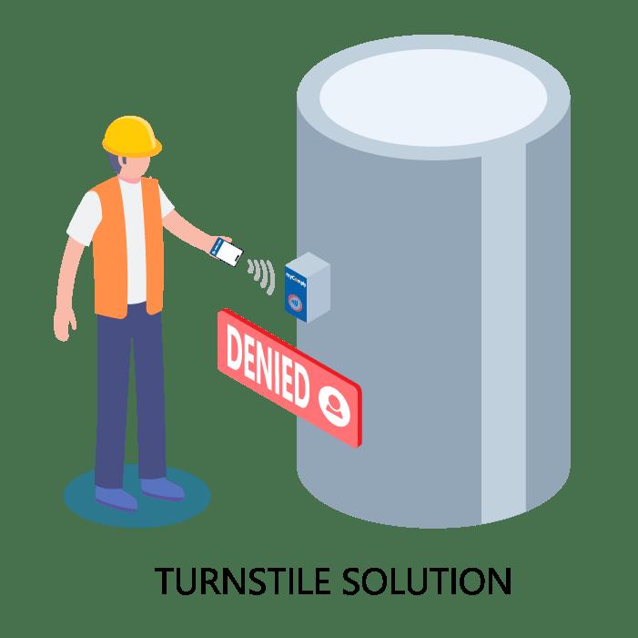 Construction Site Access Control via Turnstile
