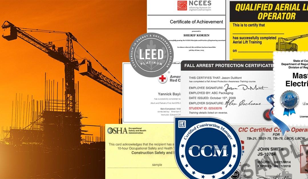 Certification Management Software for Construction: 5 Key Benefits