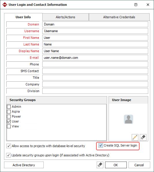 SQL Server Logins or Using Windows Impersonation