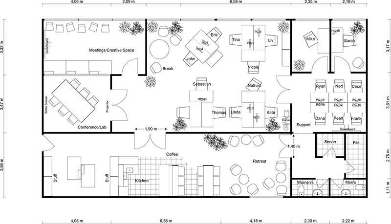 Use RoomSketcher as Your Office Planner (Web