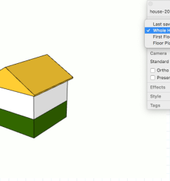 in layouts sketchup model panel select a scene from the drop down list  [ 1416 x 837 Pixel ]