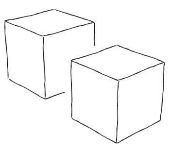 Hand Drawn Cube Sketch Coloring Page