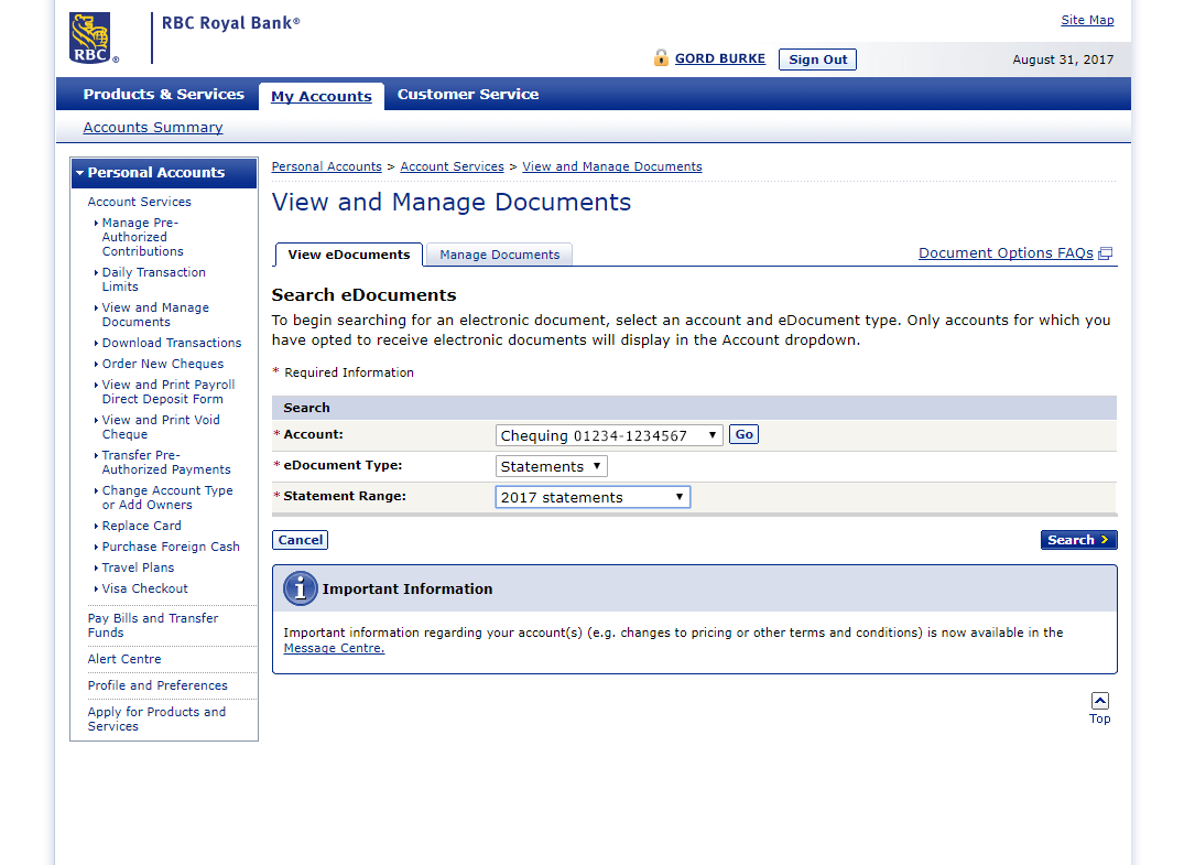 Rbc Bank Statement Instructions Help Center