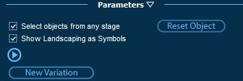 Pool Studio Panel Parameters for Showing Landscaping Items as Symbols