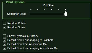 VizTerra Library Panel Item Options