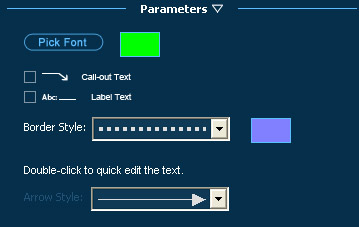 Pool Studio Construction Parameters for Adding Text