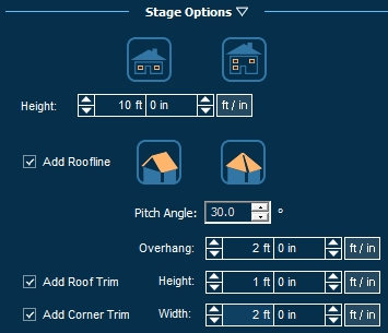 Pool Studio House Height Stage Options